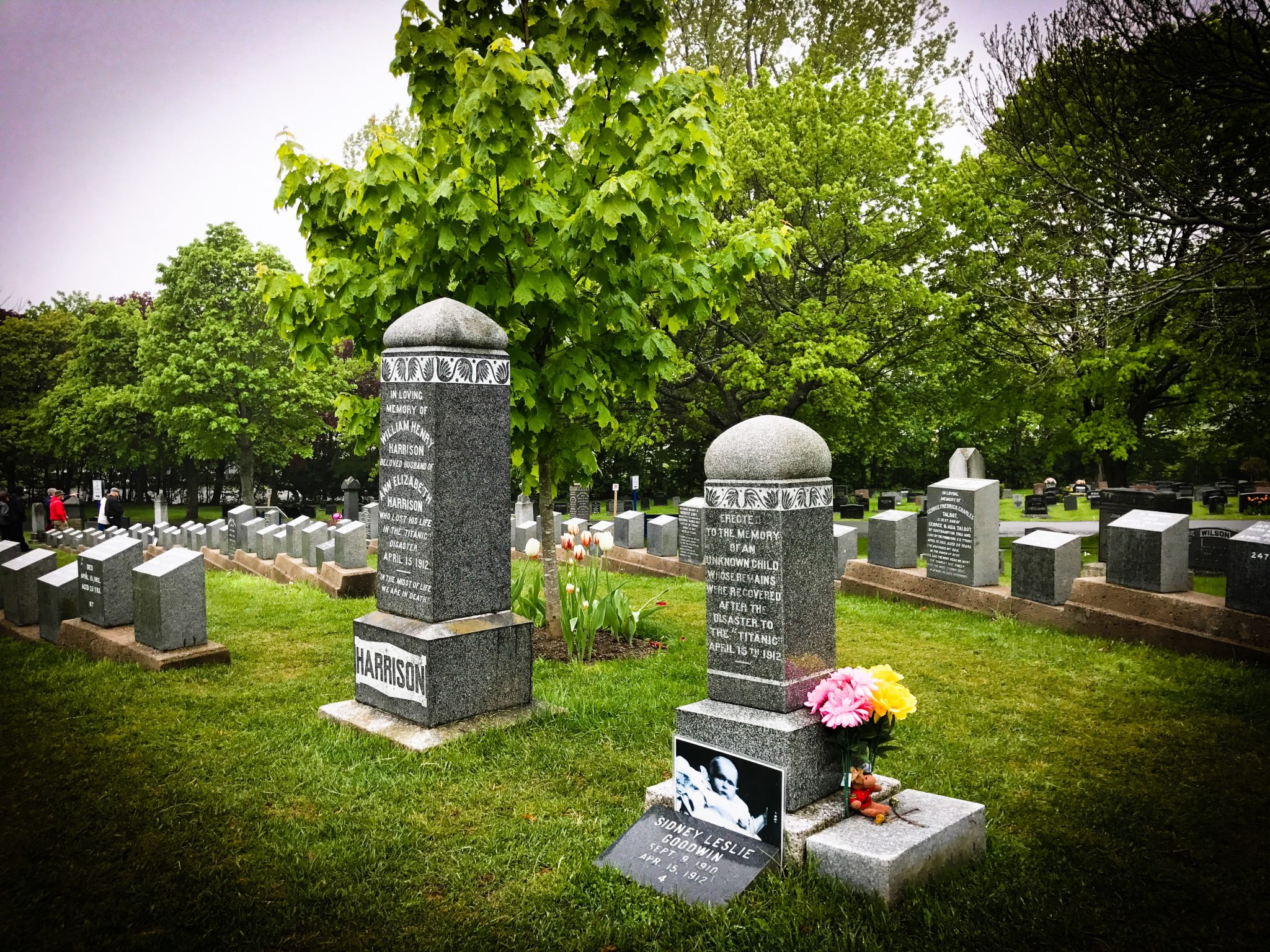 Titanic ofre på Fairvew Lawn Cemetery i Halifax
