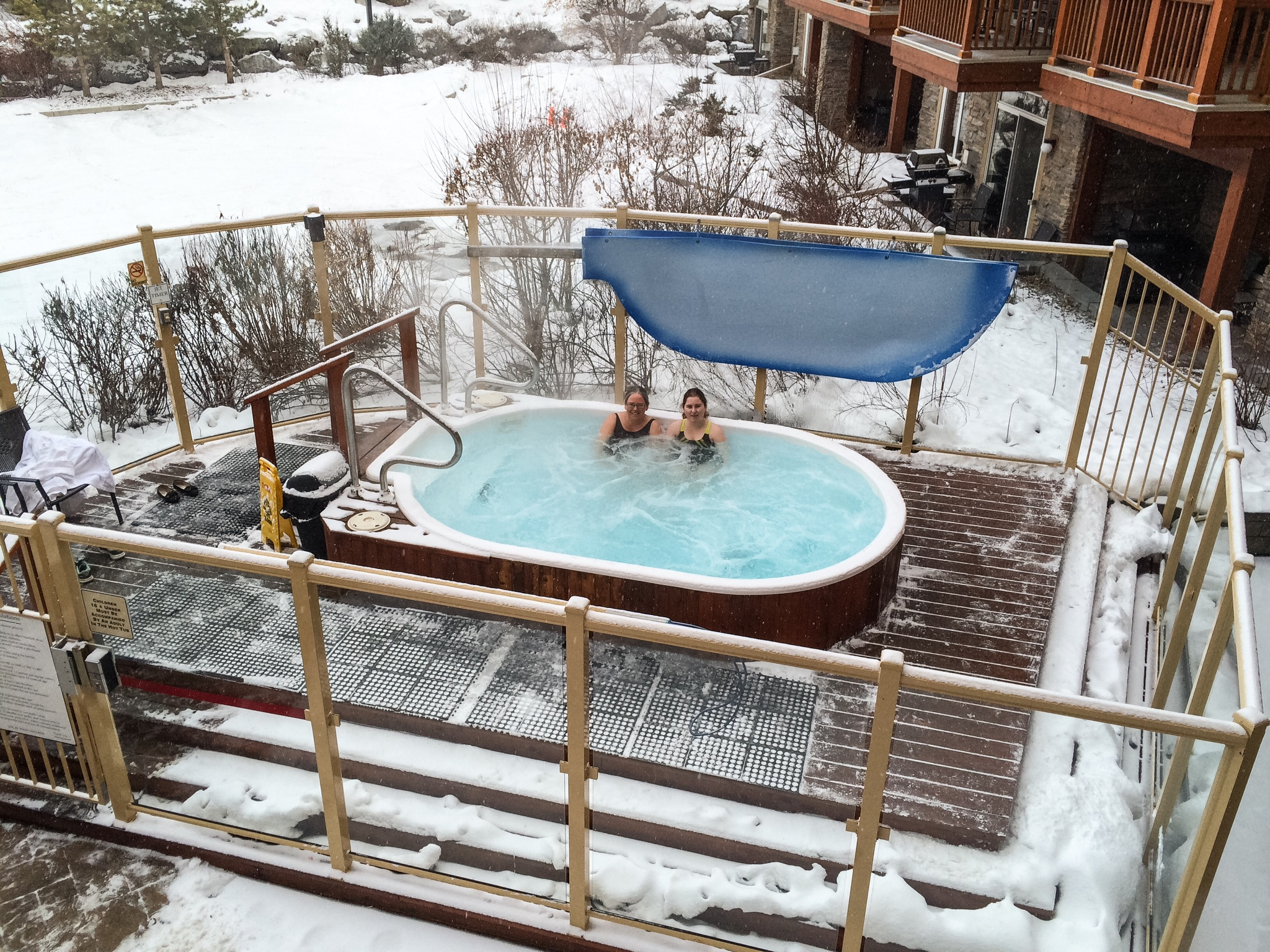 Hot Tub på Falcon Crest i Canmore.