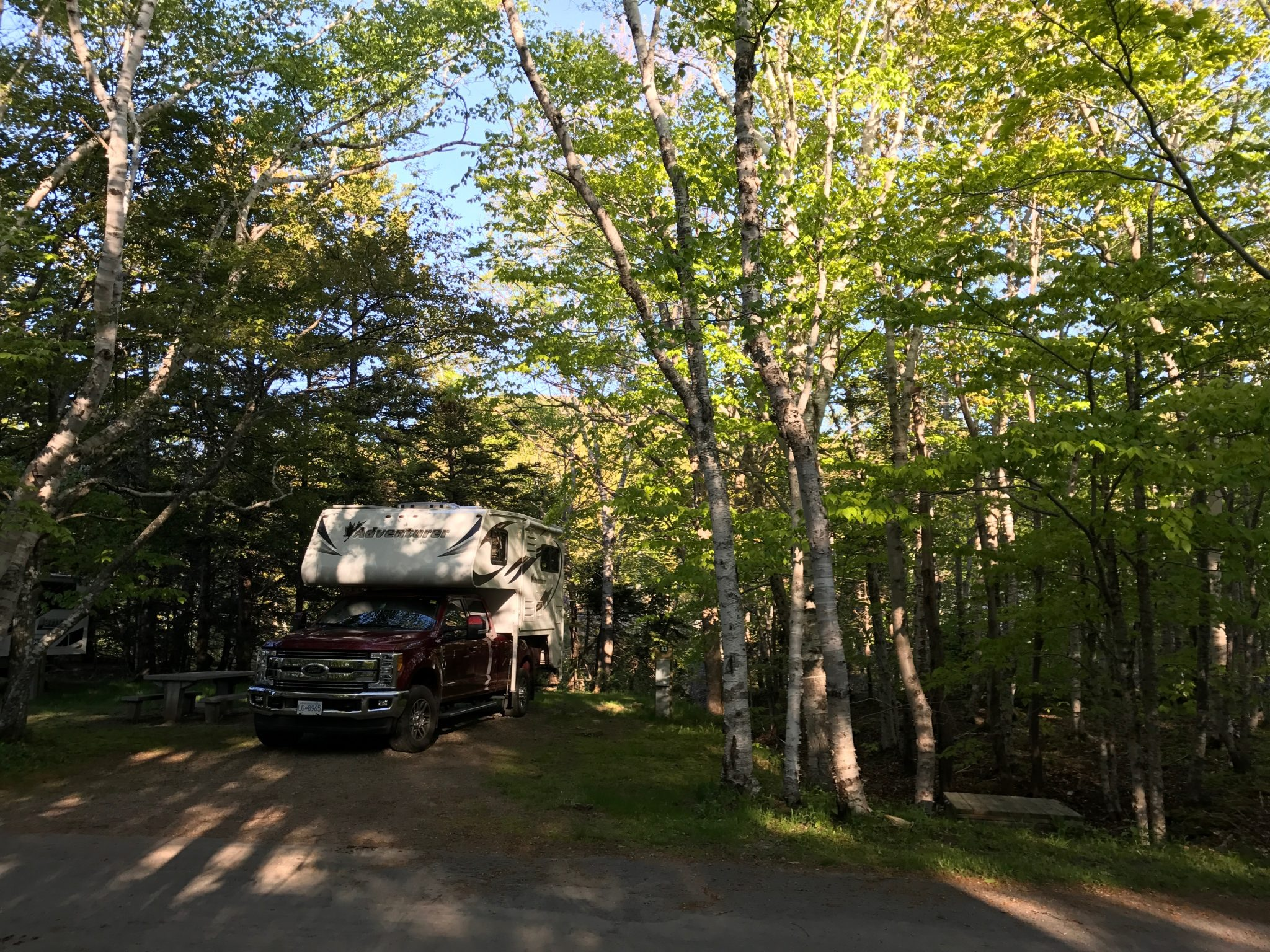 Camping i Cape Breton National Park