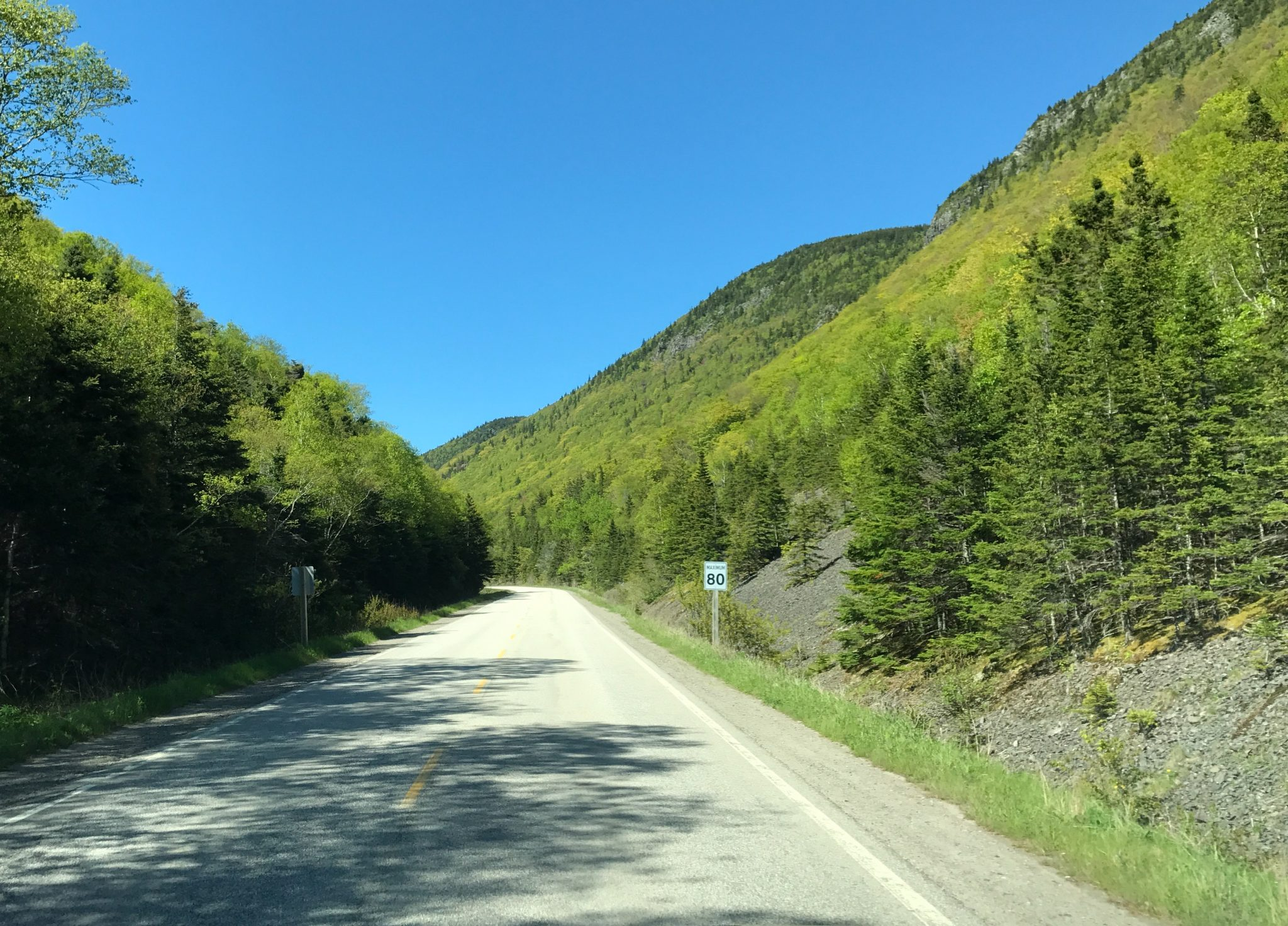 Cabot Trail i Cape Breton National Park, Nova Scotia