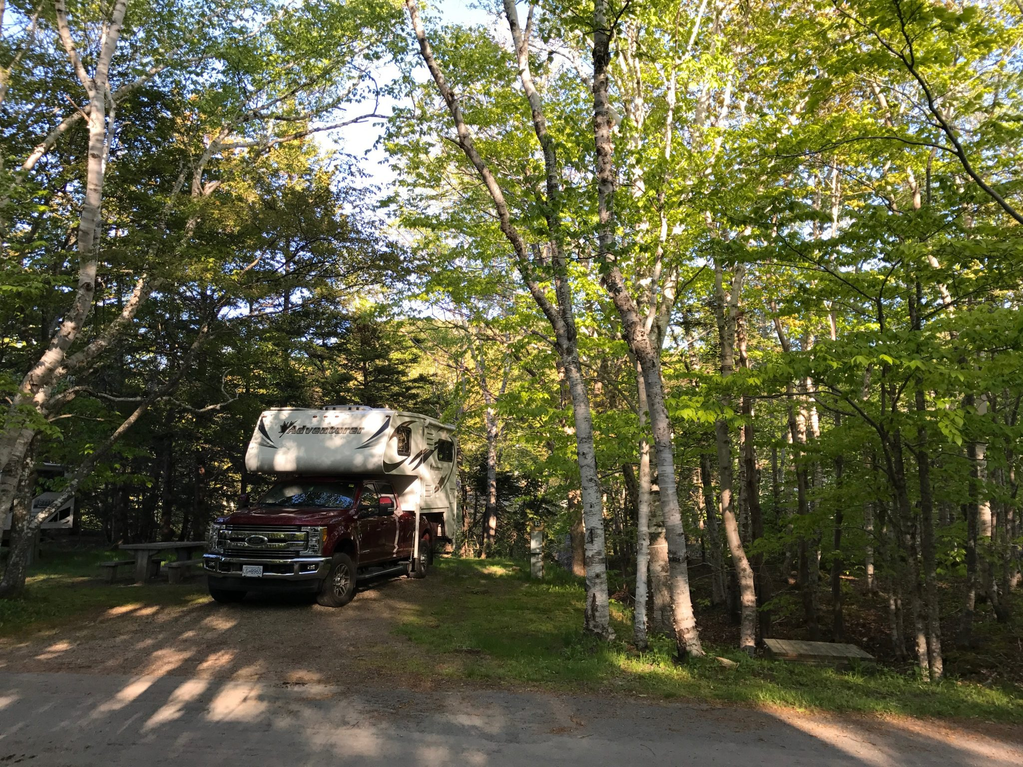 Camping ved Chéticamp i Cape Breton Highlands National Park