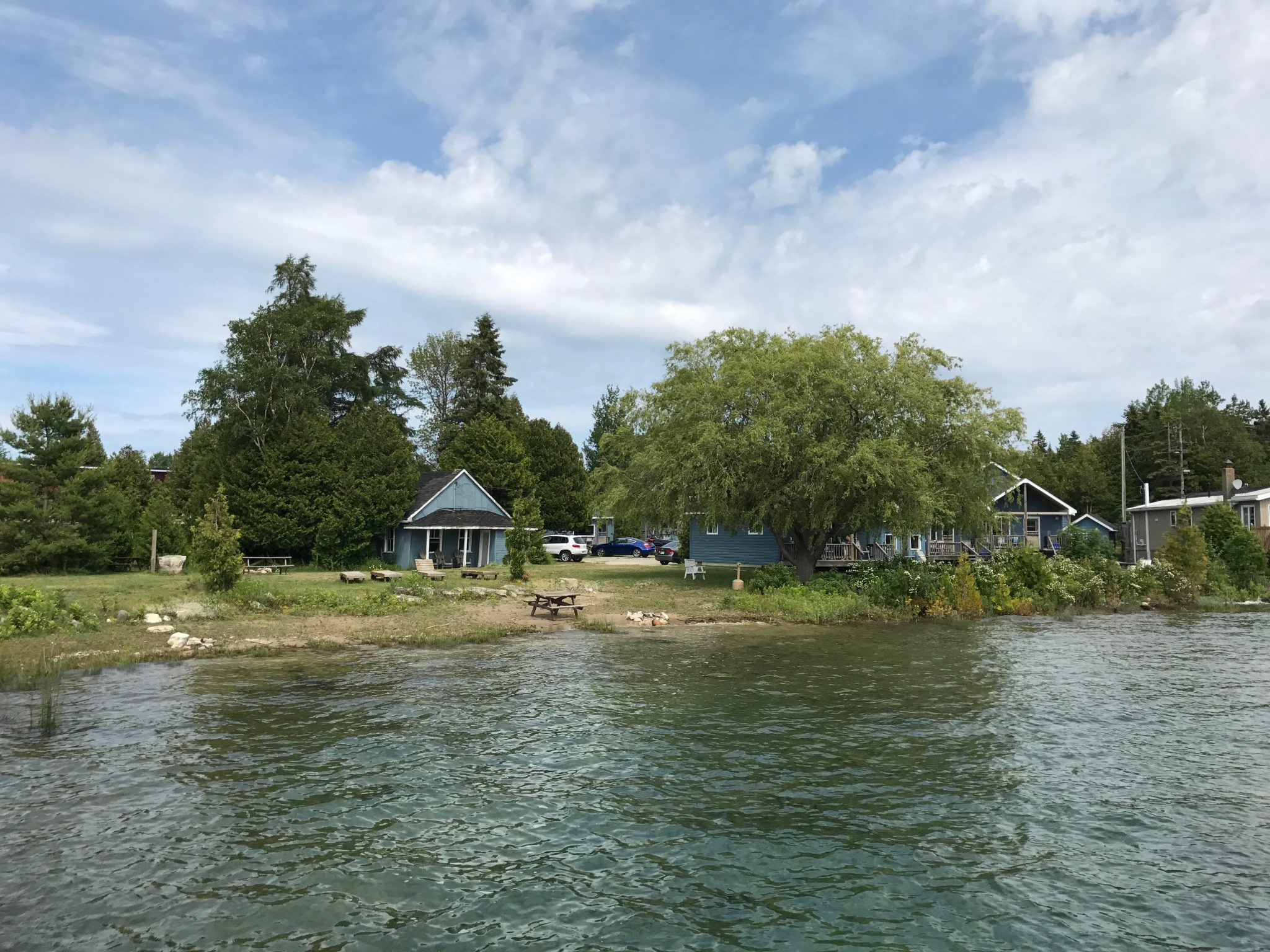 Wireless cottages i Tobermory på Bruce Pensinsula i Ontario