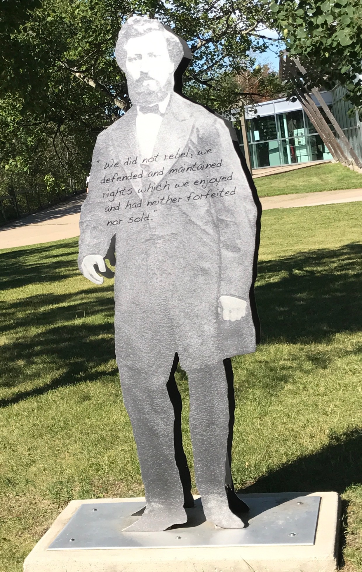 Louis Riel. Batoche National Historic Site i Saskatchewan