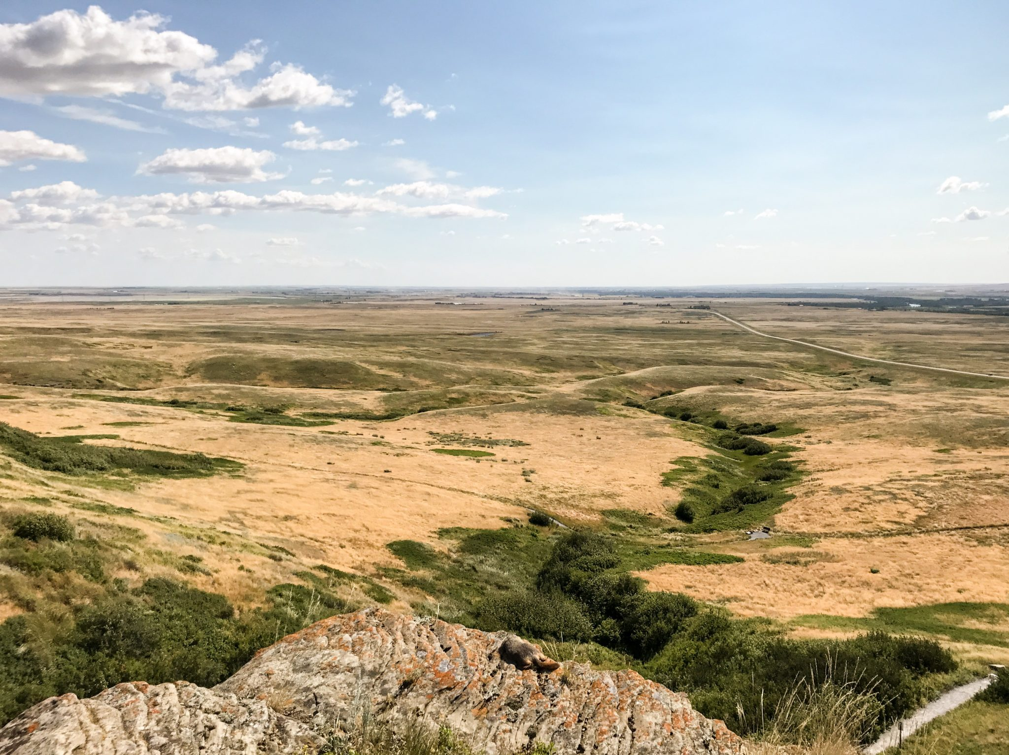 Head-Smashed-In Buffalo Jump World Heritage Site i Alberta